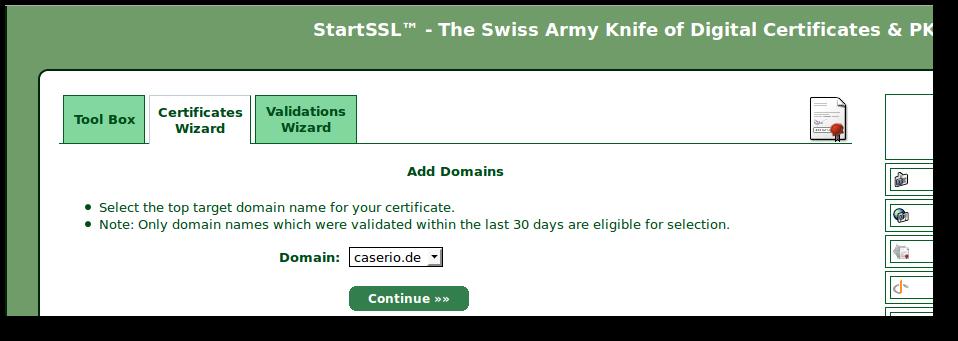 Dovecot und Postfix mit einem StartSSL Zertifikat verwenden